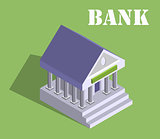 Bank finance money flat 3d web isometric infographic banking monetary concept vector. Loan, credit and financial service.