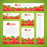 Set of Apple Banners