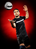 volley ball player man isolated