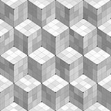 Geometric Cubes Seamless Pattern