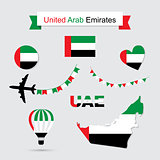 United Arab Emirates symbols.
