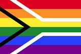Gay pride flag of South Africa