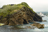 Rock formation and waves in Ponta Delgada Azores