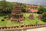 Wat Yai Chai Mongkol in Ayutthaya in Thailand