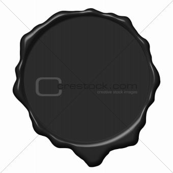 Black wax empty seal