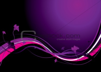 abstract floral purple