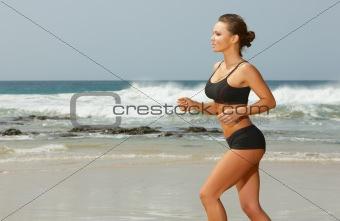 Fitness on beach