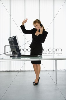 Businesswoman on phone.