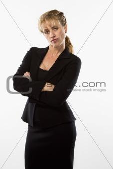 Pouting businesswoman.