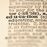 Education dictionary entry.