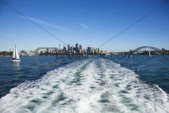 Skyline of Sydney, Australia.