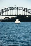 Sydney Harbour Bridge and boat.