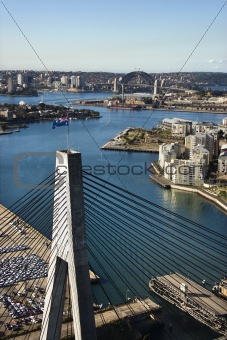 Anzac Bridge, Australia.
