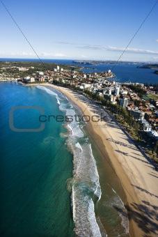 Beachfront property, Australia.