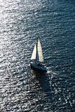 Boat sailing.