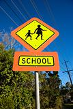 School crosswalk sign.