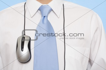 Businessman and mouse
