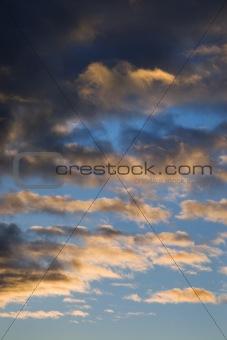 Cumulus clouds.