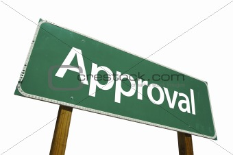 Approval - road-sign.