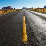 Scenic desert road.