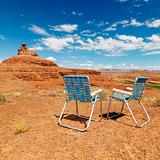 Desert scene. with chairs.