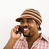 Man talking on phone.