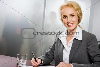 Beautiful office worker