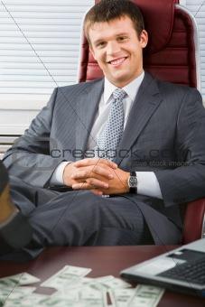 Business man relaxing
