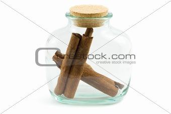 cinnamon bark in the bottle