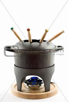 cast iron fondue set