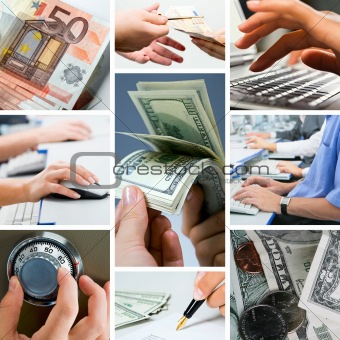 Conceptual business collage