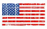 Distressed American national flag