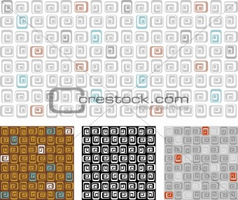 abstract retro seamless pattern / wallpaper / vector