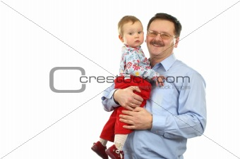 Baby girl with father