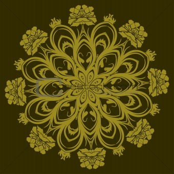 Ornamental floral design, vector