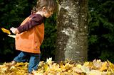Running through leaves