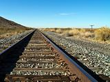 Railroad Tracks in the Desert