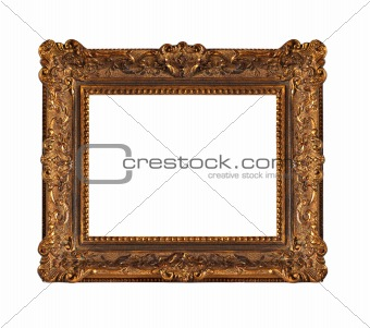 Beautiful old wooden frame