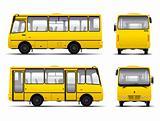 yellow minibus vector draft template