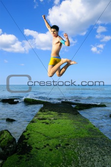 jumping of joy