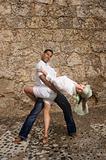 Happhy hispanic couple