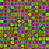 Multicolored geometrical shapes