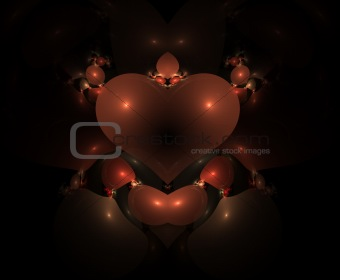 Fractal heart shape