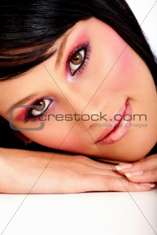 fashion woman with make-up
