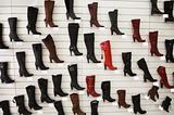 Sales of fashionable footwear