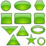 Glass Icon Set Green