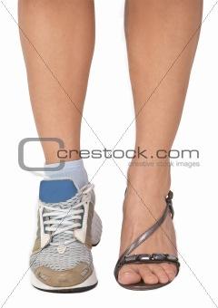 A woman's legs