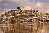 Fishermen Nets Morning Janitizo Island Patzcuaro Lake Mexico