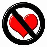 3d anti love sign