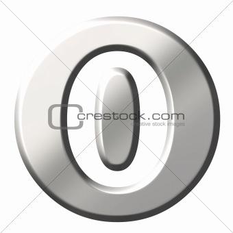 3D Steel Number 0